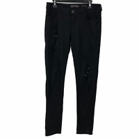 Wall Flower Womens Black Mid Rise Designer Magnolia Skinny Jeans Size Juniors 11