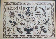 Blackbird Designs Autumn Silhouette Loose Feathers 10 Cross Stitch Pattern Chart