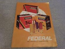Vintage FEDERAL Ammunition Advertising Booklet Catalog