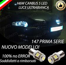 COPPIA LUCI POSIZIONE LED H6W ALFA ROMEO 147 1° SERIE CANBUS NO ERROR BIANCHI