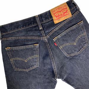 Levi's 501 Jeans Mens 30x32  Black Button Fly Straight Leg Original Actual 28x30