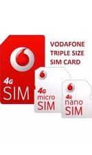 500 X Vodafone Prepaid Sims. Neu Bulk Großhandel Joblot Sims