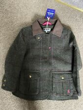 Joules Girls Fieldcoat Tweed Green Check. Age 7-8 New With Tags