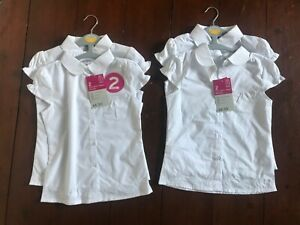 Girls TU white school shirts age 9 years new with tags
