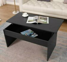Lift Top Coffee Table Desk Storage Shelf Modern Lift up Table Living Room Black