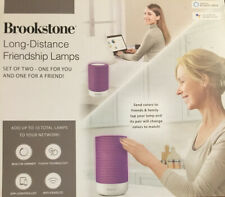 NIB BROOKSTONE Long Distance WIFI Color-Changing Friendship LED Lamps (2 Pack)