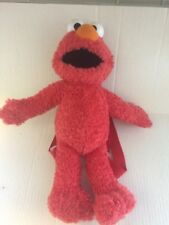 Sesame Street ELMO Backpack Plush Stuffed Animal Little One Zipper Pocket