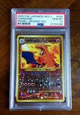 =] PSA 10 2000 Charizard Japanese Neo 2 Set Holo Rare Original Pokemon Card