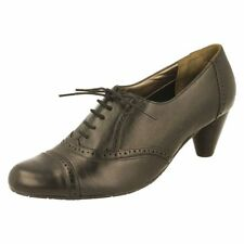 Lace-up No Pattern Business Standard (D) Heels for Women