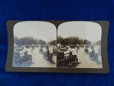 STEREOVIEW - H.C. WHITE CO - 1906 CHAMPS ELYSEES ARCH OF TRIUMPH PARIS -TOP !