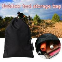 Storage Bag Drawstring Nylon Waterproof Dustproof Pouch For Outdoor Travel T9C6