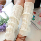 Plain Knitted Winter Women's Knit Crochet Fashion Leg Warmers Legging 5 Colors