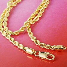 """14K Yellow Gold Filled Men's Rope Necklace Knot 24"""" Twist Link Chain Jewelry"""