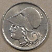 Greece 1926 1 Drachma Lustrous Slider AU+