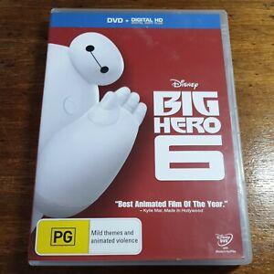 Big Hero 6 Disney DVD R4 Like New! FREE POST