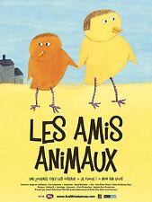 Affiche 40x60cm LES AMIS ANIMAUX (2014) Eva Lindström - Film D'animation NEUVE
