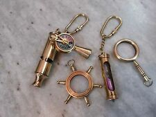 Antique Nautical Vintage Brass Keychains Beautiful Collectible