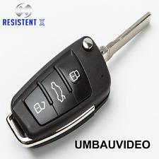 AU3G Klappschlüssel Gehäuse für Audi A1,A3,A4,A6,A8,TT,Q5,Q7 Fernbedienung