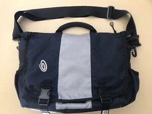 Timbuk2 Medium Classic Messenger Laptop Bag With Strap Blue Grey Color