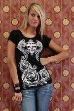 T SHIRT TOP SEXY FASHION NOIR TAILLE S/M 36/38