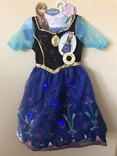 NWT Disney Frozen Princess Anna Musical Light Up Girl's Dress Size 4-6X