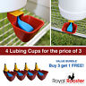 ROYAL ROOSTER Lubing Drinker Cup Poultry Chicken Waterer Nipple - 4 Pack