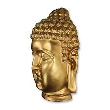 Buddha Buddhakopf Figur Skulptur Wanddekoration XXL Feng Shui Deko Bronze