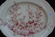 Alfred Meakin Garden Bounty Large Platter Pink Red Staffordshire England