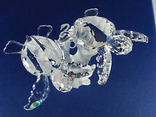 SWAROVSKI CRYSTAL BABY SEA TURTLES RETIRED 2011 MIB #826480