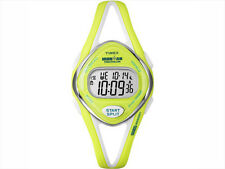 Timex Women's T5K656 Ironman Sleek 50 Mid-Size Lime Resin Strap Watch