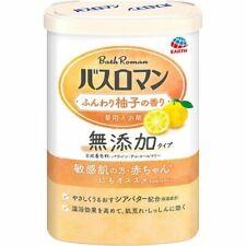 Earth BATH ROMAN Mutenka Additive-free Bath Salt 600g - Lightly Yuzu Scented