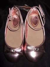 NWT ~ GYMBOREE rose pink metallic shoes bow rhinestone velcro closure ~ girls 9