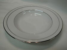 Stoneleigh Noritake White Scapes 4062 Soup Bowl - New with Tags