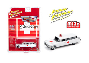 Johnny Lightning Cadillac Ambulancia 1959 Limitado 3,600 Piezas JLCP7350 1/64