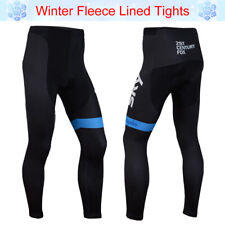 Pad Mens Winter Fleece Cycling Pants Bike Riding Trousers No Bibs Bicycle Tights