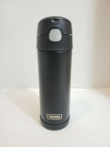Thermos 12oz  Water Bottle Matte Black F4049BK6 Stainless Steel Durable