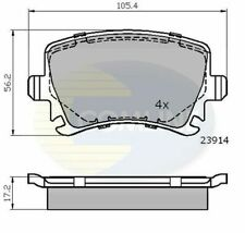 Rear Brake Pads FOR VW CADDY III 1.4 1.9 2.0 04->15 Diesel Petrol Comline