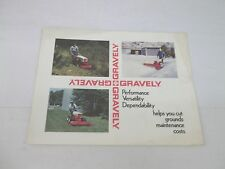 gravely outdoor power equipment manuals guides ebay rh ebay com Gravely Ignition Switch Wiring Diagram ZT 2552 Gravely Wiring Diagrams