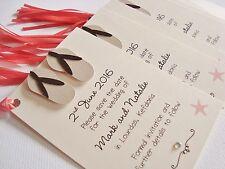 Set of 10 Personalised Handmade Flip Flops Beach Wedding Save the Date Tags