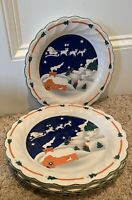 "Sango CHRISTMAS EVE (Swirl Edge) 10 3/4"" Dinner Plates Set of 4"