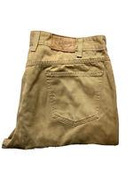 RM Williams Mens Denim Jeans Size 34 R Brown Straight Leg Longhorn Made in Aus