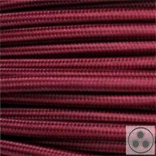 Textilkabel Stoffkabel Lampen-Kabel Stromkabel Elektrokabe Bordeaux 3adrig