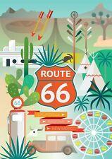 "ROUTE 66 CALIFORNIA ARIZONA NEW MEXICO Photo Flexible Fridge Magnet 2""x 3"""