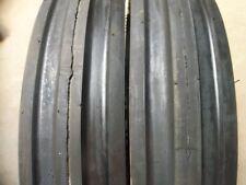 TWO 600x16,600-16,6.00-16 ALLIS CALMERS Thorn Resistant Triple Rib Tires w/Tubes