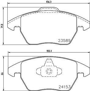 Hella Pagid Front Brake Pads T1495 fits Peugeot 208 CA_, CC_ 1.2 THP 1.6 GTi