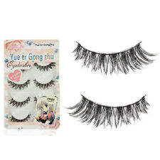 HOT 100% Handmade Natural Soft Cross False Eyelashes Fashion Eye Lashes HW50