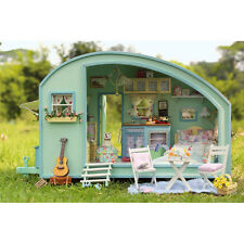 DIY Wooden Dollhouse Miniature Kit - Caravan Model