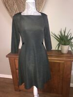 Cos Ladies Grey Size S Small Smart Dress Approx Uk 10