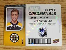 2017-18 Upper Deck MVP NHL Player Credentials Level 1 Access David Pastrnak