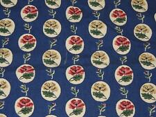 """WAVERLY PICNIC YOUNG AT HEART COLLECTION FABRIC 48x51"""" BLUE COTTON SCOTCHGARD"""